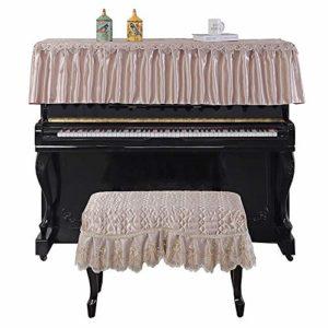 Vaxiuja Tabouret Piano Couverture Couverture Dust Piano numérique Style Européen Tissu Piano Top Demi Couverture antipoussière Respirant Wearable décoratifs Broderie Piano Serviette