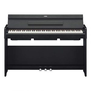 Yamaha Arius YDP-S34 piano droit numérique avec 88 touches – Avec sonorité d'un piano de concert – Elégant et compact – Compatible avec l'application Smart Pianist – Noir