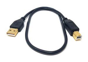 1.2m Câble USB pour claviers, platines DJ, Midi, lecteur CD, table de mixage, piano électrique, synthétiseur, séquenceurs, ordinateurs, générateurs de tonalités, processeurs d'effets, Serato