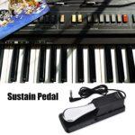 Alomejor Pédale de Sustain du Clavier Pédale Universelle pour Piano Numérique pour Yamaha Electronic Pianos