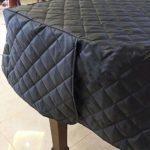 Anti-poussière et la couverture complète piano à queue noire résistant à l'humidité couvercle isolant en nylon imperméable épaisse housse de protection de piano vertical (taille: 170 cm)