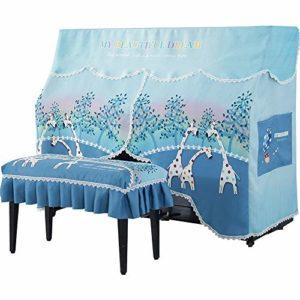 Cartoon Upright Piano Pleine poussière Couverture avec des couvertures Bench Rideau comme la Conception Clavier décoratif Covers Durable Reprise de Piano (Couleur : Blue, Taille : 40x60cm)