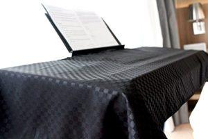 Clairevoire Clavier universel et couverture de piano numérique [Noir ébène] pour 76~88 touches   Ouverture du livre   Premium   Double couche pour une protection supplémentaire   Taille-M   63 X 150cm