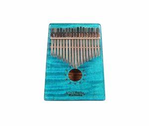 CXZA Kalimba, Instrument Kalimba 17 Portable, Adulte Bleu cru Professionnel débutant Jouer Un Instrument de Musique, (Couleur : Bleu)