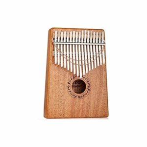 CXZA Pouce Piano Portable Kalimba 17 Tons Finger Piano Piano Main Kalimba17 Tons pêche Bois Instrument de Musique (Couleur : Brown)