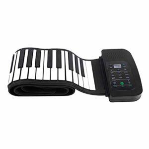 Jouets Musicaux Clavier portable pliable Piano mains en rouleau avec batterie pédale de sustain 88 clé en silicone flexible Roll Up Piano Jouets Musicaux Pour Enfants ( Color : Black , Size : Ones )