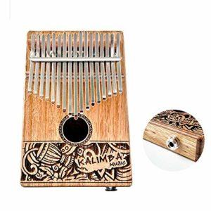 Kalimba 17 Key, African Thumb Piano – Instrument De Musique à Clavier Finger Piano Avec Sac Autocollant Pour Marteau Pour DéButants Et Enfants,Performance