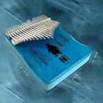 Kalimba 21 Touches Pouce Piano, Clavier En Acajou Mbira Instrument De Musique Avec éTude Livre Tuning Accessoires Complets, Cadeau Pour Camarade De Classe Enfants Adultes DéButants,Sun-21Keys