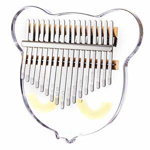Kalimba Mbira 17 Clés Pouce Piano Thumb Piano Acrylique Transparent Kalimbas Piano À Doigt avec Tuning Hammer Boîte De Protection Instrument De Musique pour Enfants Débutants Adultes