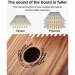 Kalimba Mbira 7 Touches Acacia Thumb Piano, Instrument De Musique à Clavier Avec Livre D'éTude Tuning Accessoires Complets, Cadeau Festival Pour Camarade De Classe Enfants Adulte