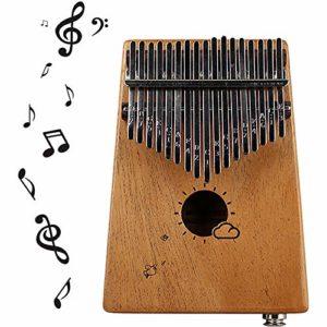 Kalimba Pouce Africain Piano Mbiro Avec Instruction Instruction Autocollants Sac De Transport Et Marteau Pour Camarade De Classe Enfants Adulte Musique Amateur Festival Cadeau,Mahogany-ElectricBox