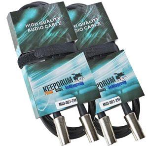 Keepdrum MID001 Lot de 2 câbles MIDI 2 m – Male