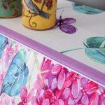 Motif Fleurs Piano Droit Couverture avec Banc Couverture Bordée Protection Anti-poussière Couverture de Protection Anti-poussière Tissu Durable Reprise de Piano (Couleur : Purple, Taille : 40x80cm)