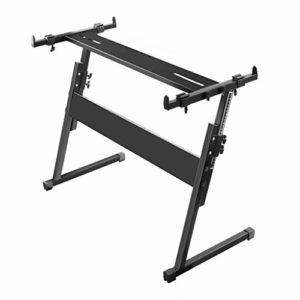 Nai-tripod Support Clavier très réglable, Clavier Z-Forme Support Support for Clavier Synthétiseur Instrument Piano Rack (Color : Black)