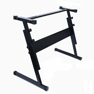 Nai-tripod Z-Type Piano Piano Shelf Support, 54-61 Clavier de Piano Portable électronique Musicale Formation Musicale Clavier Support de Piano (Color : Black)