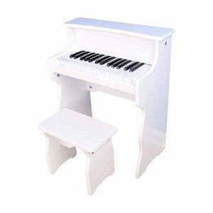 Piano numérique 30-clé Piano Les Enfants débutants Petit Piano Jouet en Bois Clavier (Couleur: Rose) (Color : White)