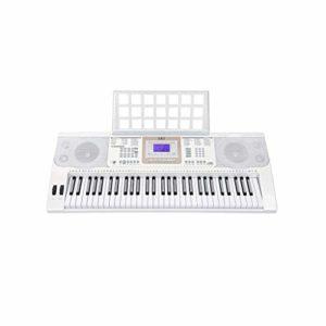 Piano numérique Clavier Intelligent for Les Enfants Adultes débutants Mise en Route 61 Piano Key (Couleur: Blanc) (Color : White)