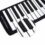 Piano numérique Jouets for Enfants débutants Clavier Piano Piano Mains en Rouleau Musique Formation Mise en Route Thicken Pliable Cadeau (Couleur: Blanc) (Color : White)