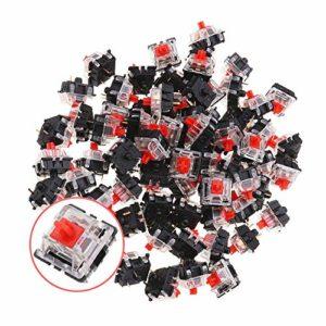 PKA Lot de 70 interrupteurs de clavier linéaires à 3 broches Rouge pour clavier de jeu mécanique