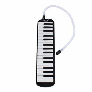 SUPVOX Air Piano 32 Touches Portable Mélodica avec Embouchures Instrument de Musique pour Cadeau Enfant Débutant (Noir)