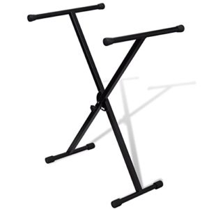 vidaXL Support de Clavier réglable Mono-Barre en X Support Piano Stand Pied Clavier