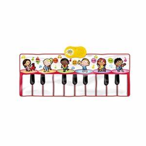 WOHAO Piano numérique Clavier for Enfants Playmat Piano Play Mat Kids Music électronique Playmat Danse coloré Mat-17 clés (Couleur: Rouge) (Color : Red)