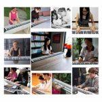 WOHAO Piano numérique Hand Piano Roll Débutant Enfants Clavier Bluetooth Jouets Instrument de Musique de Piano de Formation d'entrée Pliante 88 clés (Couleur: Noir) (Color : Black)