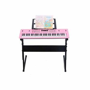 WOHAO Piano numérique L'éclairage du Clavier Intelligent for Enfants et Jouant Le Piano Débutant Multifonctionnel Jouets d'enseignement des élèves (Couleur: Noir) (Color : Pink)