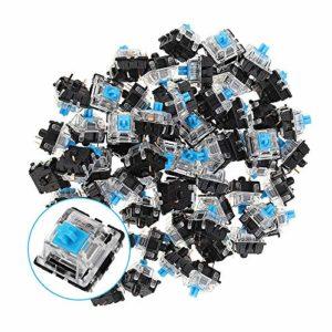 XiaoMall Lot de 70 interrupteurs de clavier à 3 broches Bleu pour clavier de jeu mécanique