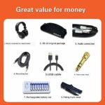Y&D Roland Aerophone AE-10G Digital Wind Instrument in Graphite Black & White Kits Value Pack Includes luggage, lifting and folding music stand Studio monitor headphones