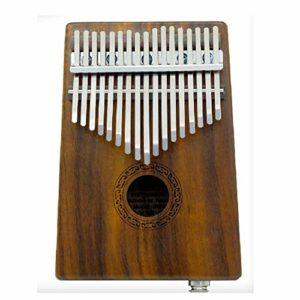 YZSL Kalimba 17 Touches EQ Acacia Thumb Piano, intégré Portable Ramassage Mbira Finger Piano Cadeau pour Les Enfants Adultes débutants Professionnel