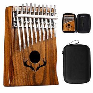 YZSL Kalimba Double-Deck Thumb Piano 20 Touches avec Protection Box et Tuning Marteau Cadeaux Mbira Finger Piano Portable pour Enfants et Adultes débutants