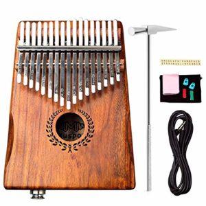 YZSL Portable Kalimba Pouce Piano 17 Touches, Haute Performance Mbira Sanza Acacia Finger Piano avec intégré Pick-up, Cadeau pour Les Enfants Adultes débutants Professionnel