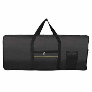 ZXYAN Clavier 61 Touches Case électrique Piano matelassée Housse Gig Bag Tissu Oxford Portable