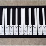 Autocollants de Piano, Autocollants Amovibles Transparent de Clavier pour Partition Piano Debutant