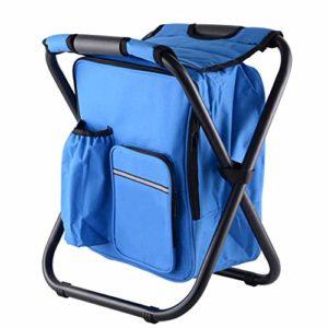 Chaise de Sac de Glace de pêche Tabouret Pliant Portable avec Chaise de Sac à Dos Sac à Dos selles Peinture selles Train de Croquis,A