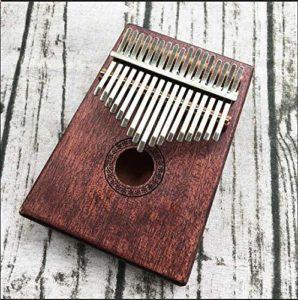 CHENTAOCS 17 Clé Kalimba acajou Pouce Piano Mbira naturel Mini clavier cadeau instrument avec collier de sélection libre zodiac (Couleur : E)