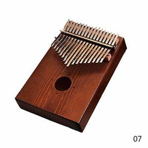 CHENTAOCS 17 clés Kalimba Pouce Piano Afrique Instrument Mahogany Body Instrument de musique (Couleur : Pine Wood Coffee 02)