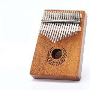 CHENTAOCS Scoutdoor 17 clés Kalimba Thumb Piano Fait par un seul conseil de haute qualité en bois acajou Corps Instrument de musique (Couleur : That Art)