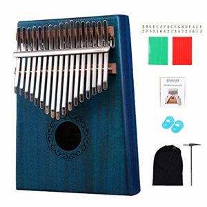 CHENTAOCS SFIT 17 Clés Kalimba Pouce Piano Bois Corps acajou Instrument de musique avec l'apprentissage du livre Tune Marteau for le débutant Kalimba Sac (Couleur : 17 Keys)