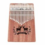 Chentaomayan 17 touches Kalimba Elk Sound Trou simple panneau en acajou pour piano Mbira Naturel Mini clavier Instruments