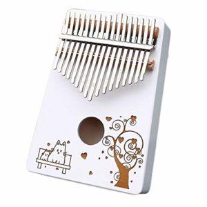CHENTAOMAYAN Instrumen Blanc Kalimba 17 Clés en Bois d'acajou Cadeaux Mbira Finger Piano Portable for Les Enfants et Les débutants Piano (Color : 2)