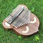 Chentaomayan Kalimba Piano à 17 clés Kalimba portable avec tête d'ours en noyer noir Mbira avec marteau de réglage