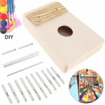 Chentaomayan Kit de 10 clés Kalimba DIY Kit de piano en bois de tilleul pour piano Mbira Accessoires pour travaux manuels Peinture Parents-enfants Campagne, 10keys