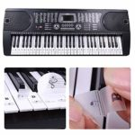 Dsaren Autocollants Amovibles De Piano Note Autocollante Stickers Transparents pour Enfants Clavier De Piano Débutants Apprentissage 54 61 88 37 49 88