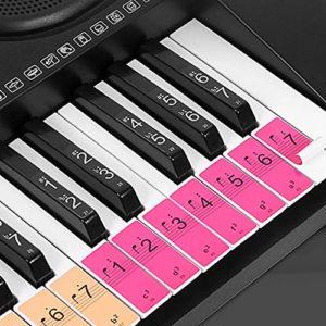 Fesjoy Autocollants de touches de clavier de piano pour débutants pour 88/61/54 touches Piano