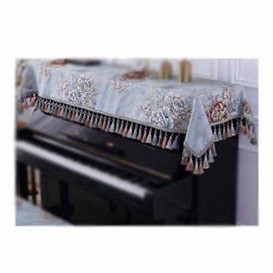 Housse de Protection pour Clavier Piano Piano de Dust Cover Couverture Couverture La moitié Clavier Serviette Beige Bleu américain Jacquard Ménage poussière Durable