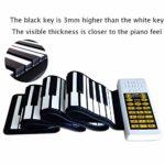 JJCFM Multifonction 88 Clés Main Piano Roll, Version Portable Intelligent Rouleau Main Clavier Électronique, Clés en Silicone Souple Imperméable, Cadeau Spécial pour Les Enfants
