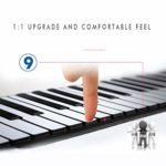 JJCFM Pliant Piano Roll, Multifonction 49 Touches Clavier Électronique Mains en Rouleau, Clavier Souple Portable, Cadeau Spécial pour Les Enfants, Les Adultes Et Les Débutants