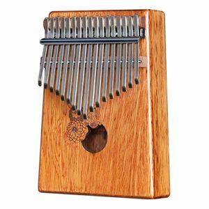 JJCFM Pouce Piano, Rose Bois 17 Touches Finger Piano, Mini Pouce Africaine en Bois Piano, Cadeau pour Les Enfants Spéciaux, Adultes Et Débutants, Débutants Instruments De Musique
